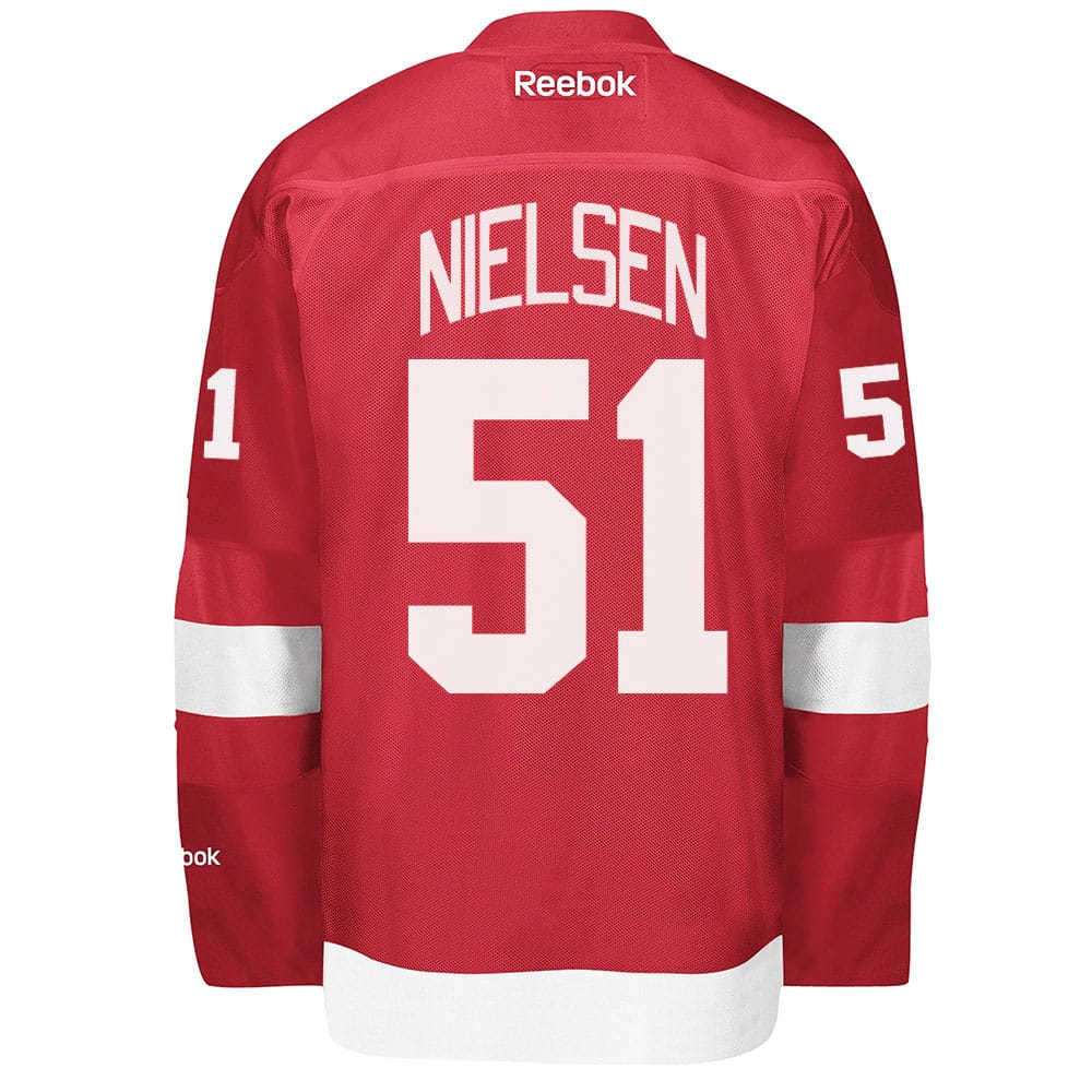 Nielsen Detroit Red Wings Reebok Premier Home Jersey