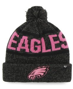 Philadelphia Eagles Cuff Knit Charcoal Pink 47 Brand Womens Hat
