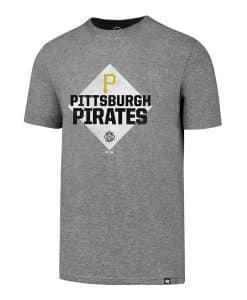 Pittsburgh Pirates Men's 47 Brand Slate Gray Rival T-Shirt Tee