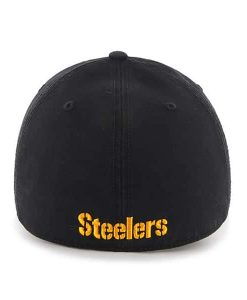 Pittsburgh Steelers 47 Brand Franchise Black Fitted Hat Back