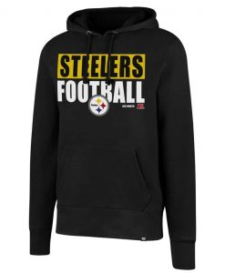 Pittsburgh Steelers Men's 47 Brand Headline Black Pullover Hoodie