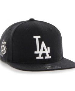 Los Angeles Dodgers 47 Brand Black Sure Shot Snapback Hat