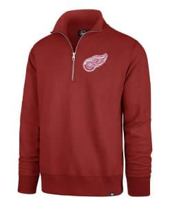 Detroit Red Wings Men's 47 Brand Red Stateside 1/4 Zip Pullover