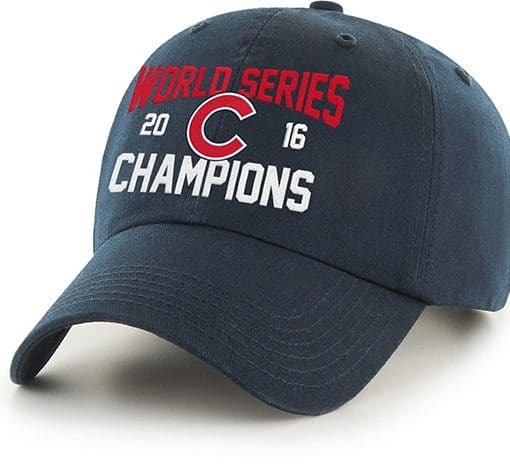 Chicago Cubs 2016 World Series Champions 47 Brand Clean Up Adjustable Hat