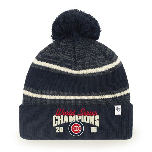 Chicago Cubs 2016 World Series Champions Cuff Knit 47 Brand Beanie Hat