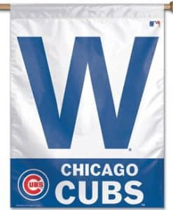 "Cubs 27""x37"" W Vertical Flag"