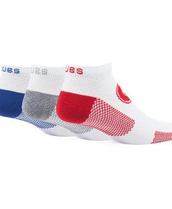 Chicago Cubs 47 Brand Motion LARGE Low Cut 3 PACK Socks Back