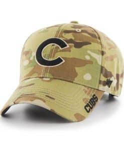 Chicago Cubs 47 Brand Camo MVP Multicam Adjustable Hat