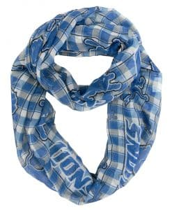Lions Plaid Infinity Scarf
