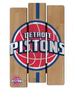 Pistons Wood Fence Sign