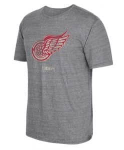 Detroit Red Wings Vintage Tri-Blend Gray T-Shirt