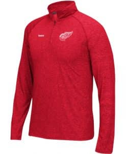 Detroit Red Wings Mens Left Winger Red Quarter-Zip Shirt - Size 4XL