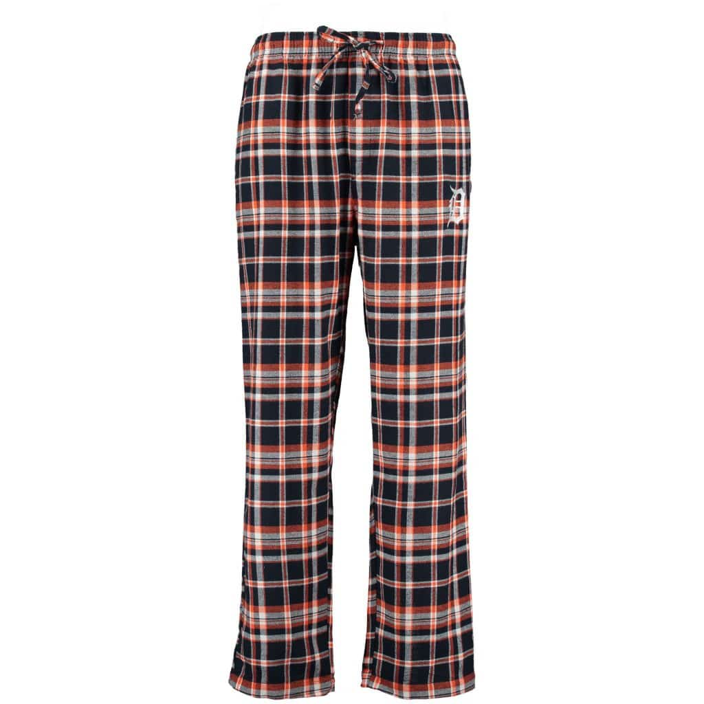 Detroit Tigers Mens Plaid Flannel Pajama Pants