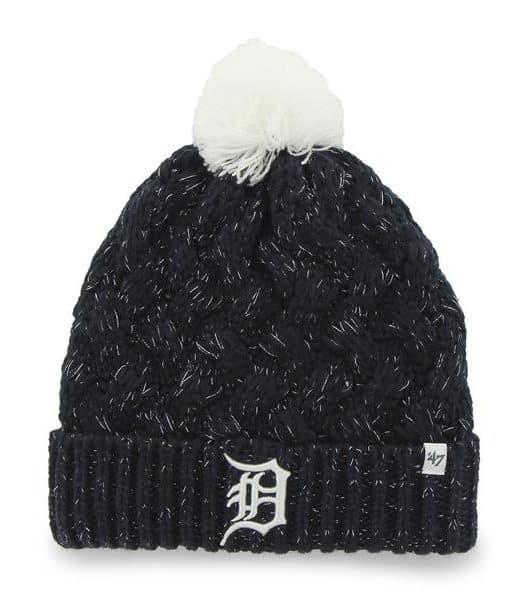 Detroit Tigers Navy Fiona Cuff Knit 47 Brand Womens Hat