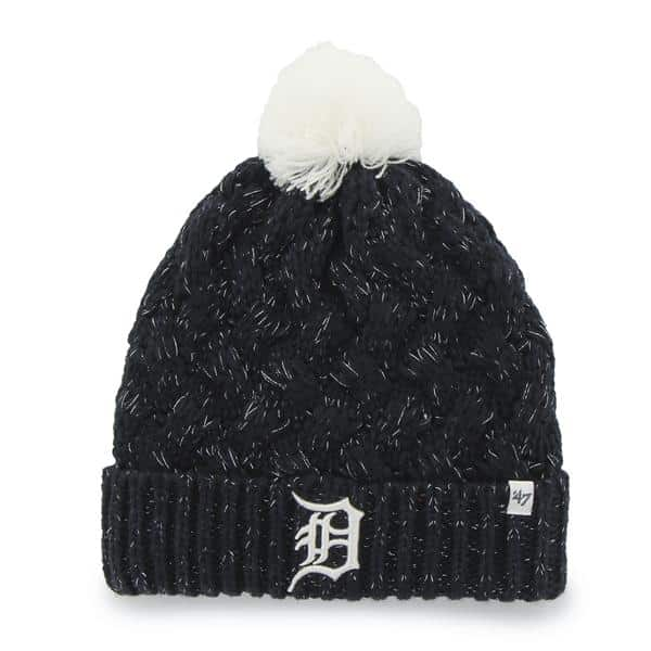 Detroit Tigers Navy Fiona Cuff Knit 47 Brand Womens Hat