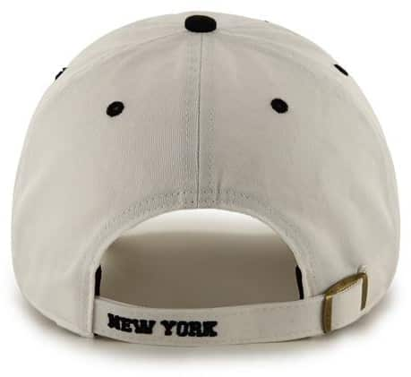 NY Yankees 47 Brand White Ice Clean Up Adjustable Hat Back