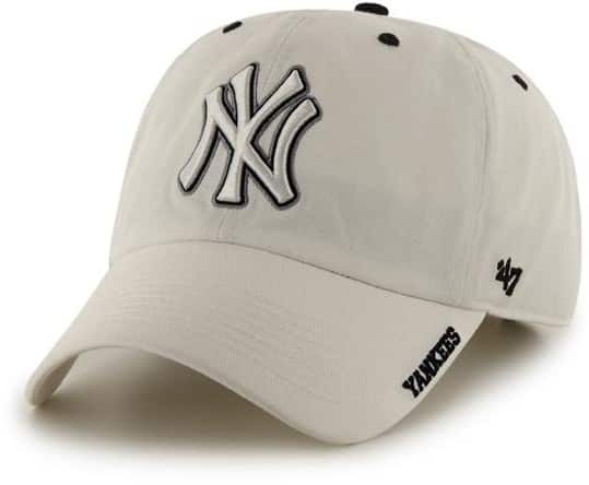 NY Yankees 47 Brand White Ice Clean Up Adjustable Hat