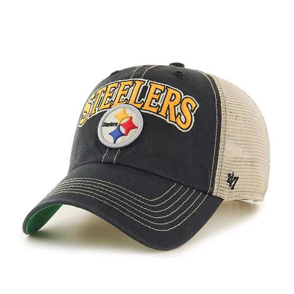 new product e5592 38bcd Pittsburgh Steelers Tuscaloosa Clean Up Vintage Black 47 Brand Adjustable  Hat - Detroit Game Gear