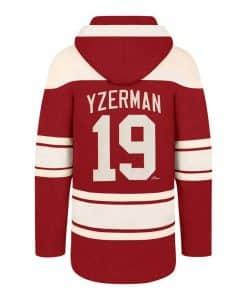 Steve Yzerman Detroit Red Wings Men's 47 Brand Red Vintage Pullover Jersey Hoodie
