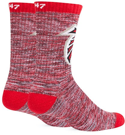 Atlanta Falcons 47 Brand Leroy Crew Sport Socks Back