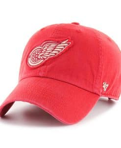 Detroit Red Wings 47 Brand Hasket Red Clean Up Adjustable Hat