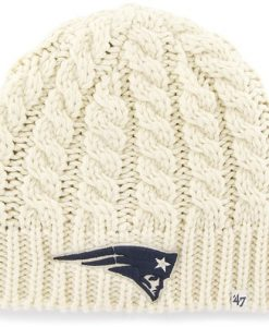 New England Patriots Logo Newbury Beanie Natural 47 Brand Womens Hat