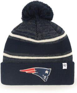 New England Patriots Navy Fairfax Cuff Knit Beanie 47 Brand Hat