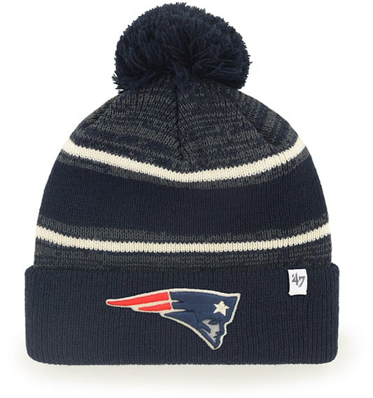 New England Patriots Navy Fairfax Cuff Knit Beanie 47 Brand Hat