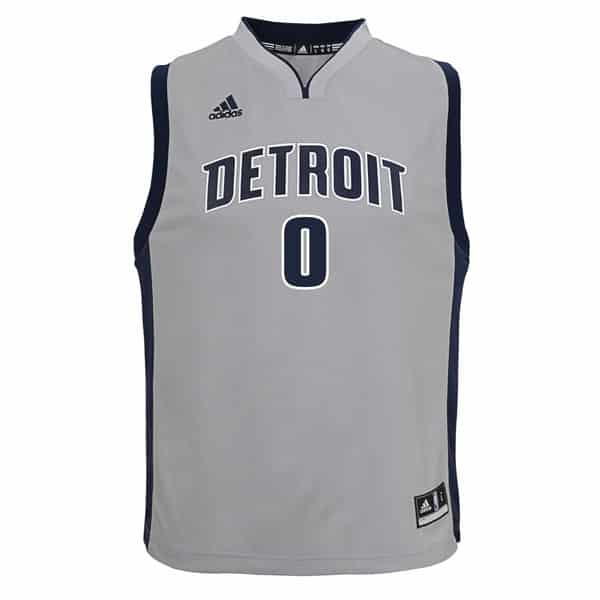 new style 9bffa ce894 Andre Drummond Detroit Pistons YOUTH Gray Replica Jersey - Detroit Game Gear