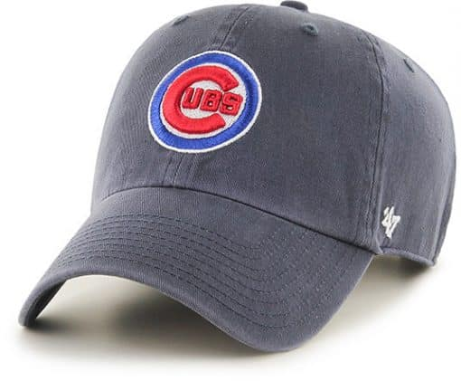 Chicago Cubs 47 Brand Logo Vintage Navy Clean Up Adjustable Hat