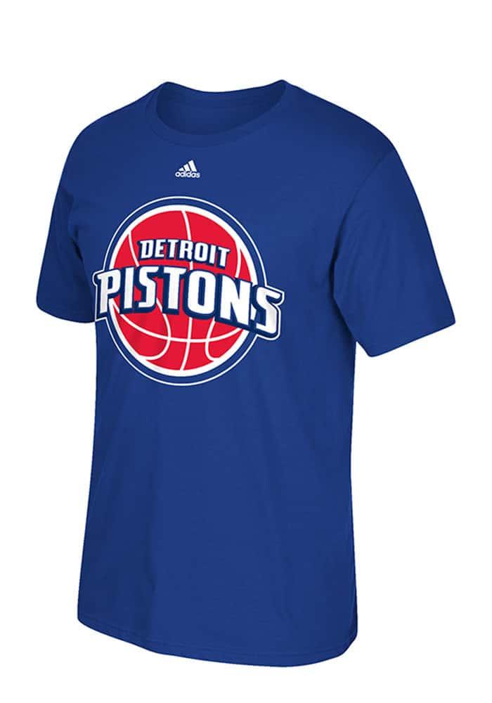 Detroit Pistons Logo Adidas Blue T-Shirt