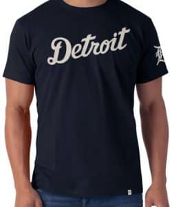 Detroit Tigers 47 Brand Mens Navy Fieldhouse T-Shirt