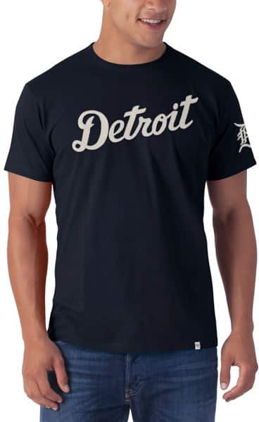 Detroit Tigers Men's 47 Brand Navy Fieldhouse Tee T-Shirt