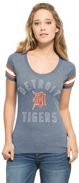 Detroit Tigers Womens 47 Brand Fantasy Campus Scoop Shirt