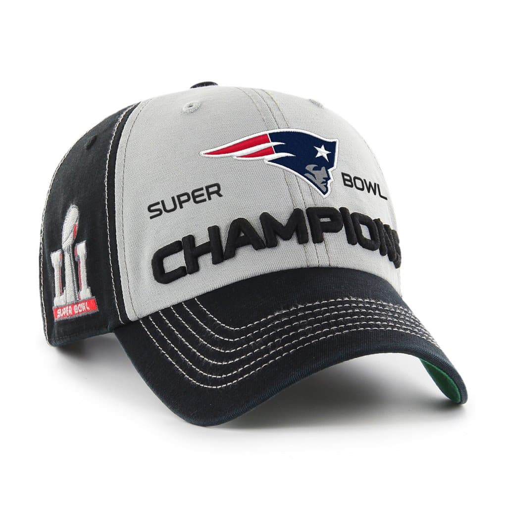 New England Patriots Super Bowl Champions LI Mcgraw Clean Up 47 Brand Adjustable  Hat - Detroit Game Gear 93f27787c