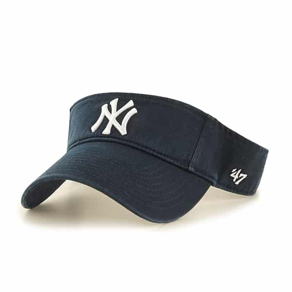 New York Yankees Clean Up Navy Visor 47 Brand Adjustable Hat