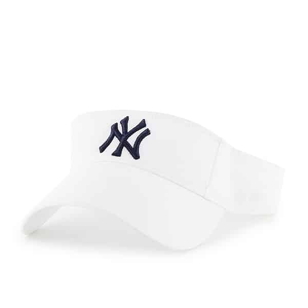 New York Yankees Clean Up White Visor 47 Brand Adjustable Hat