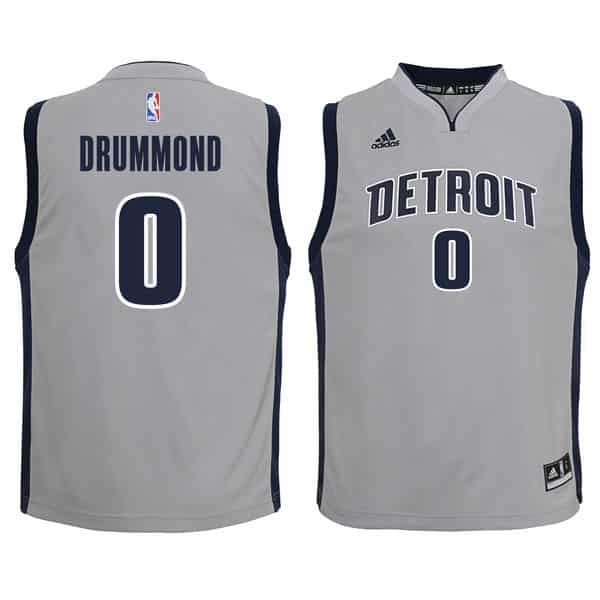 Andre Drummond Detroit Pistons YOUTH Adidas Gray Replica Jersey