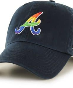 Atlanta Braves Pride Clean Up Navy 47 Brand Adjustable Hat