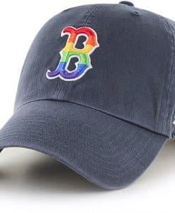 Boston Red Sox Pride 47 Brand Vintage Clean Up Adjustable Hat