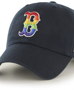 Boston Red Sox Pride Clean Up Navy 47 Brand Adjustable Hat