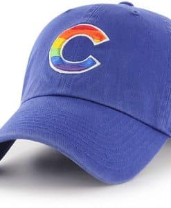 Chicago Cubs Pride 47 Brand Royal Clean Up Adjustable Hat