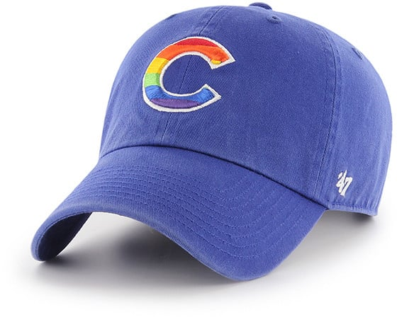 Chicago Cubs Pride 47 Brand Royal Clean Up Adjustable Hat