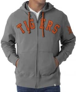 Detroit Tigers 47 Brand Mens Gametime Full Zip Hoodie