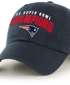 New England Patriots 5 x Super Bowl Champions Clean Up 47 Brand Adjustable Hat