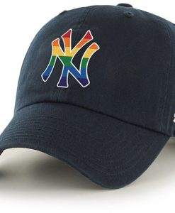 New York Yankees Pride 47 Brand Navy Clean Up Adjustable Hat