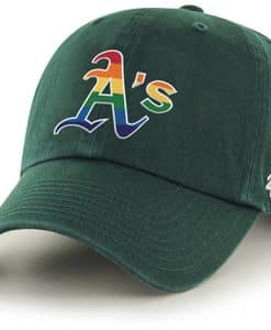 Oakland Athletics Pride 47 Brand Dark Green Clean Up Adjustable Hat