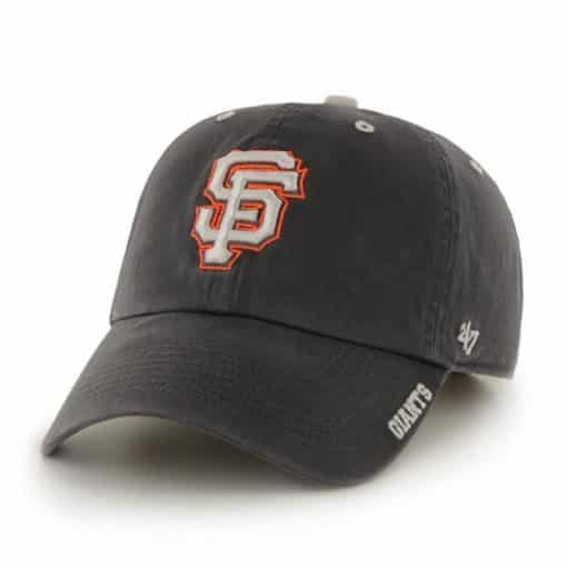 San Francisco Giants 47 Brand Charcoal Ice Clean Up Adjustable Hat