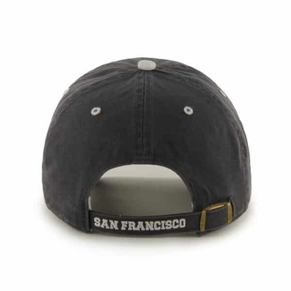 San Francisco Giants 47 Brand Charcoal Ice Clean Up Adjustable Hat Back