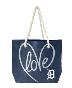 Detroit Tigers Love Rope Tote Bag